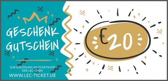 Ticket-Gutschein 20€