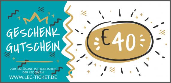 Ticket-Gutschein 40€