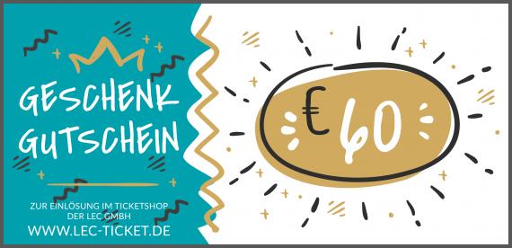 Ticket-Gutschein 60€