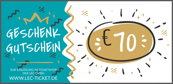 Ticket-Gutschein 70€