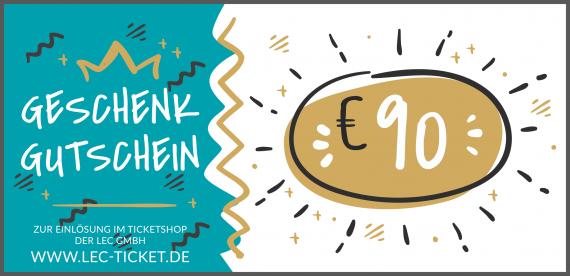 Ticket-Gutschein 90€