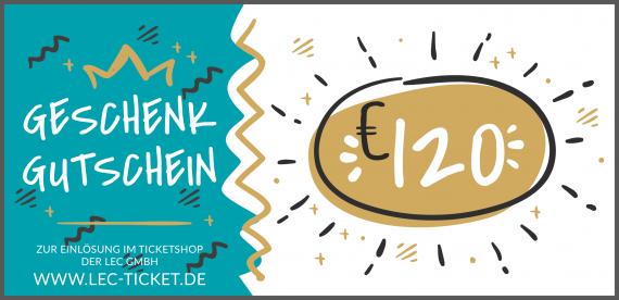 Ticket-Gutschein 120€