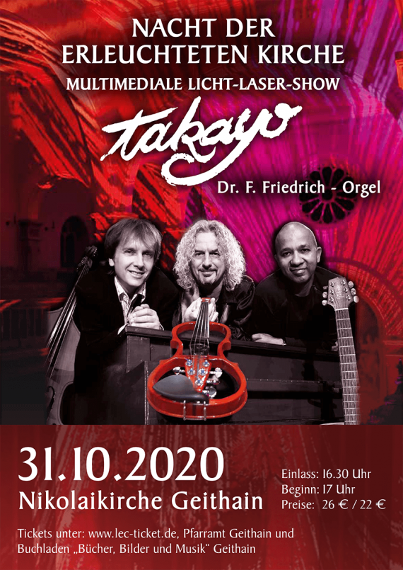 Takayo & Dr.F.Friedrich (Orgel) // Nikolaikirche Geithain // 31.10.2020
