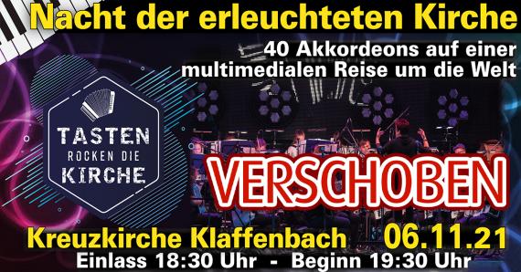 ERSATZTERMIN // Nacht der erleuchteten Kirche - Harmonikaspatzen // Kreuzkirche Klaffenbach // 06.11.21