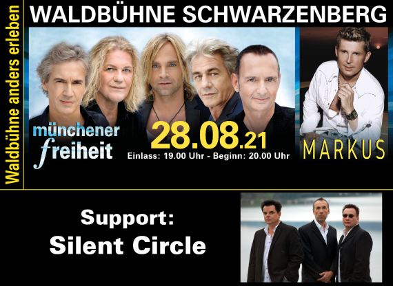 Münchener Freiheit - Markus - Silent Circle // Waldbühne Schwarzenberg // 28.08.2021