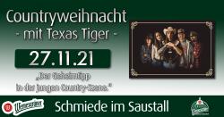 Countryweihnacht mit Texas Tiger in der Schmiede im Saustall Wernesgrüner Brauerei-Gutshof