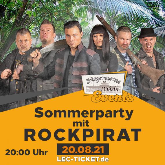 Sommerparty mit Rockpirat im Bürgergarten Döbeln