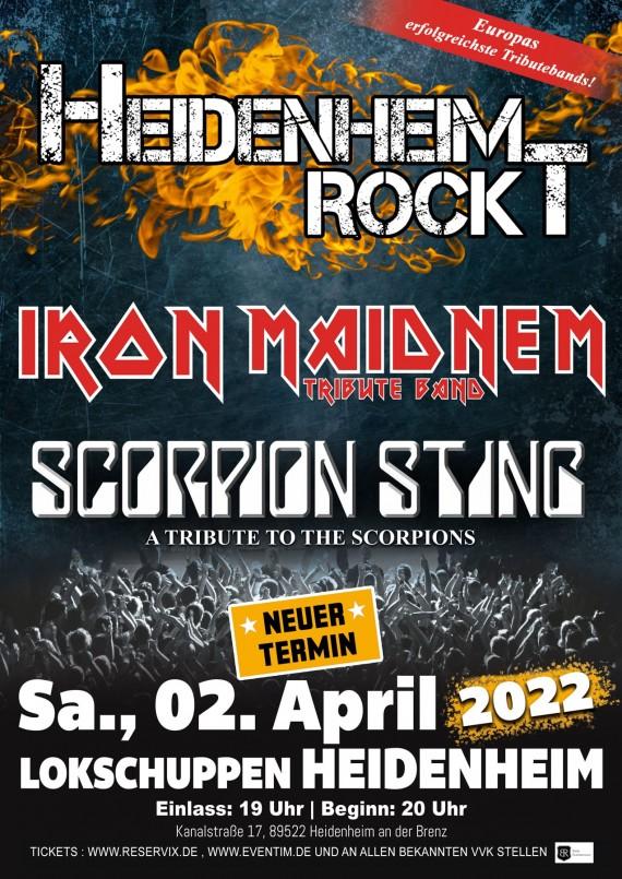 Iron Maidnem & Scorpion Sting // Lokschuppen Heidenheim // 02.04.2022